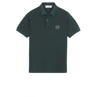 Stone Island 22S67 Pigment Dyed Polo Musk Green