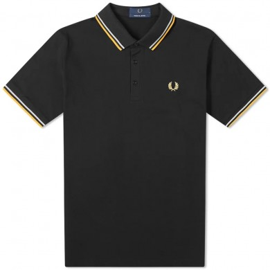 Fred Perry Authentic Made in Japan Twin Tipped Polo Black