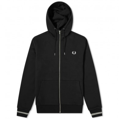 Fred Perry Authentic Zip Hoody Black