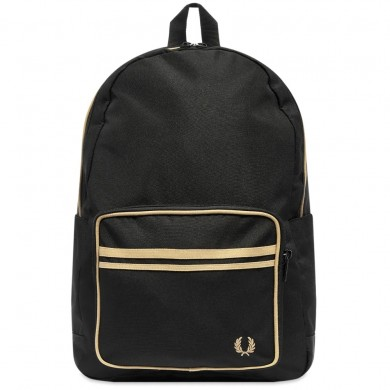 Fred Perry Authentic Twin Tipped Backpack Black & Champagne