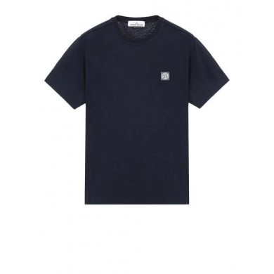 Stone Island 21342 Fissato Dye Treatment Tee Blue