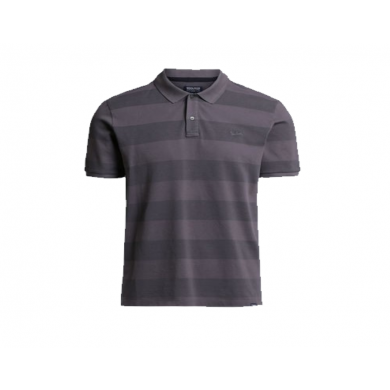 Woolrich Striped Polo Steel Grey