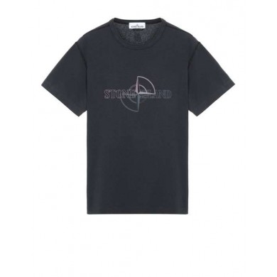 Stone Island 23381 Graphic Two Tee Dark Grey
