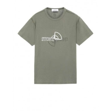 Stone Island 23381 Graphic Two Tee Petrol