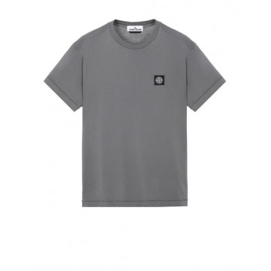 Stone Island 24113 Patch Logo Tee Blue Grey