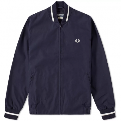 Fred Perry Reissues Made in England Original Tennis Bomber Jacket Navy & Ecru