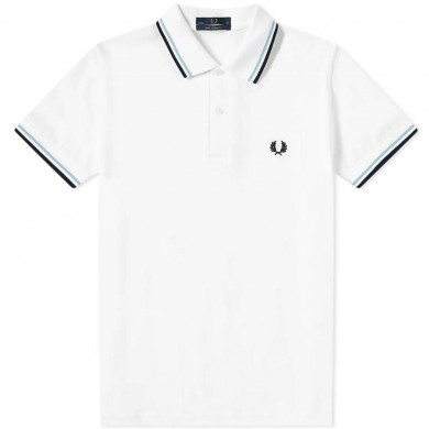 Fred Perry Reissues Original Twin Tipped Polo White, Ice & Navy