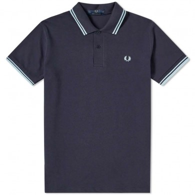 Fred Perry Reissues Original Twin Tipped Polo Navy & Ice