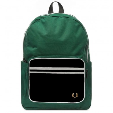 Fred Perry Twin Tipped Backpack Green & Black
