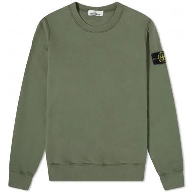Stone Island 63020 Garment Dyed Crew Sweat Sage Green