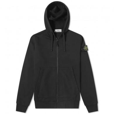 Stone Island 64220 Garment Dye Zip Through Hoody Black