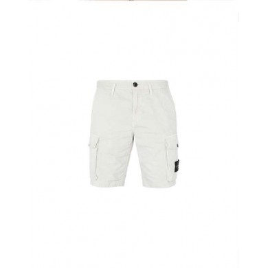 Stone Island L07WA Old Dye Treatment Bermuda Cargo Shorts Stucco