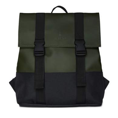 Rains Buckle Backpack Msn Bag Green