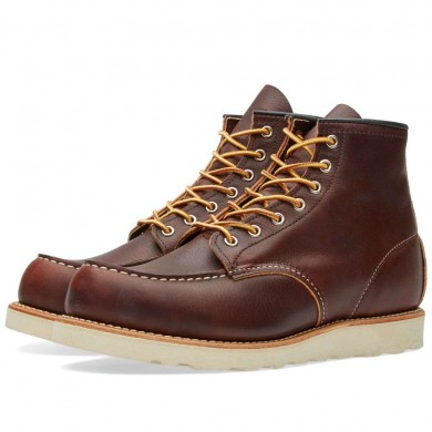 "Red Wing 8138 Heritage Work 6"" Moc Toe Boot Briar Oil Slick"