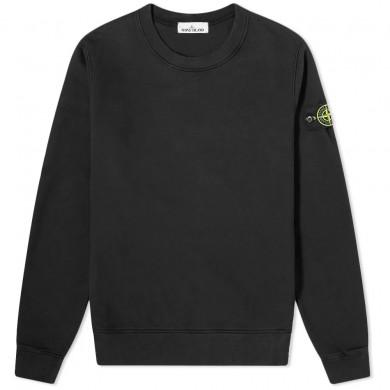 Stone Island 63020 Garment Dyed Crew Sweat Black