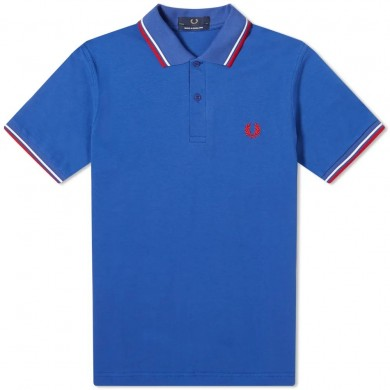 Fred Perry Reissues Original Twin Tipped Polo Bright Blue, White & Red