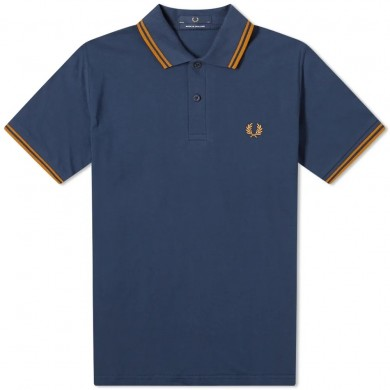 Fred Perry Reissues Original Twin Tipped Polo Shaded Navy