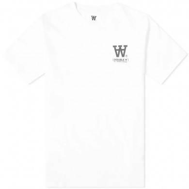 Wood Wood Ace AA Small Logo Tee Bright White