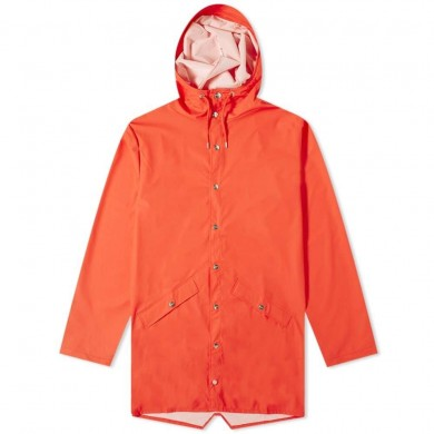Rains Long Jacket Red