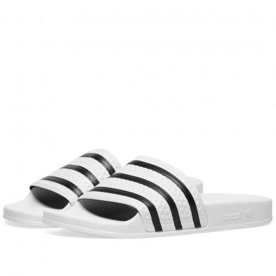 Adidas Adilette White & Black