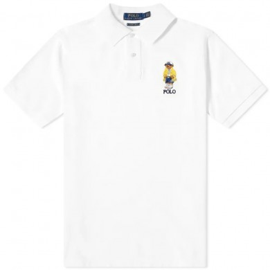 Polo Ralph Lauren Yachting Bear Embroidered Polo White