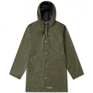 Stutterheim Stockholm Lightweight Raincoat Green