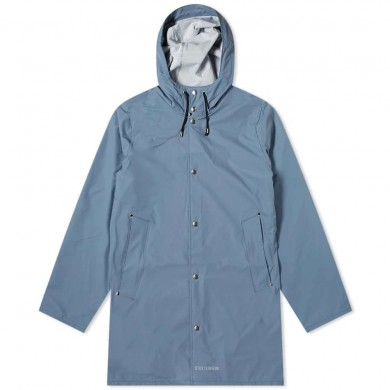 Stutterheim Stockholm Lightweight Raincoat Ash Blue