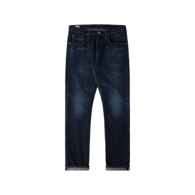 Edwin Regular Tapered Jeans - Made in Japan - Blue Dark Used L32
