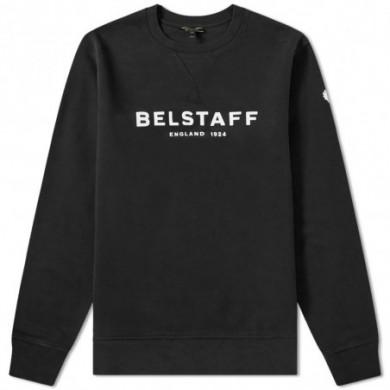 Belstaff 1924 Printed Logo Sweatshirt Black