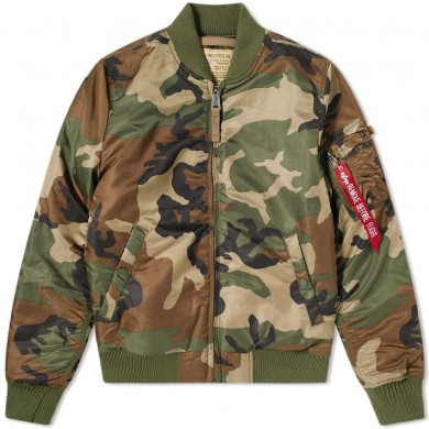Alpha Industries MA-1 VF 59 Flight Jacket Woodland Camo