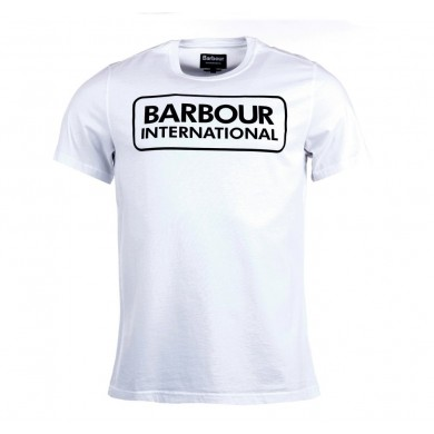 Barbour International Graphic Tee White