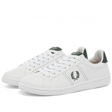Fred Perry Authentic B721 Leather Sneaker White & Ivy