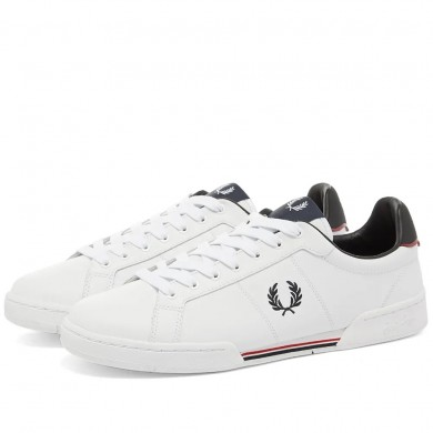 Fred Perry Authentic Leather Sneaker White