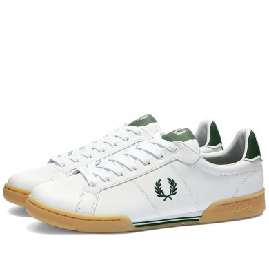 Fred Perry Authentic Leather Sneaker White & Gum