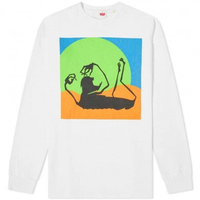 Levi's Vintage Clothing Happy Mondays Limited Edition 80's LS Graphic Tee Freaky Multi-colored