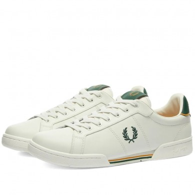 Fred Perry Authentic B722 Leather Sneaker Porcelain