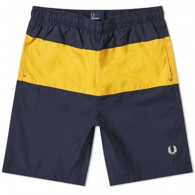 Fred Perry Block Panel Swin Short Navy