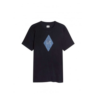 C.P. Company Diamond Logo Print Tee Total Eclipse