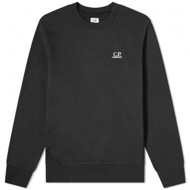 C.P. Company Embroidered Logo Sweat Black