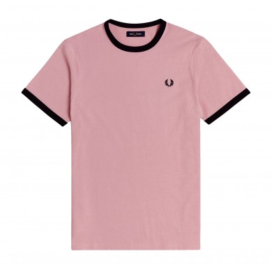 Fred Perry Ringer Tee Chalky Pink
