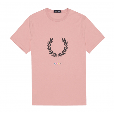 Fred Perry Print Registration Tee Chalky Pink