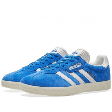 Adidas Gazelle Super Blue, Vintage White & Gold