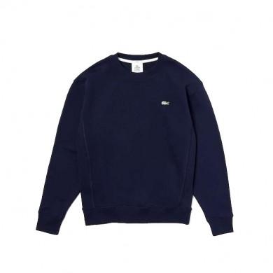 Lacoste Live Cotton Fleece Sweatshirt Navy Blue