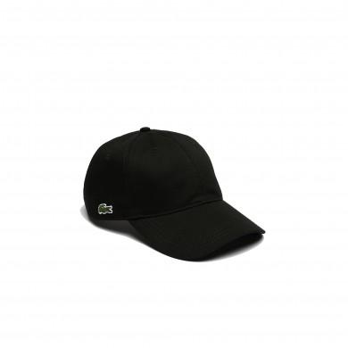 Lacoste Contrast Strap Cotton Cap Black