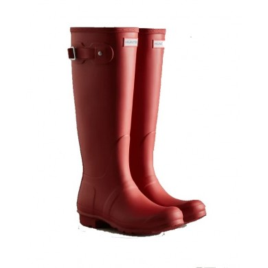 Hunter Original Tall Wellington Boots Military Red