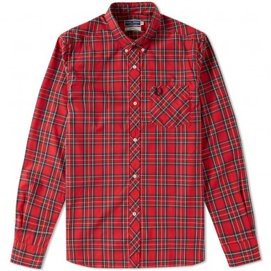 Fred Perry Reissues Tartan Shirt Red