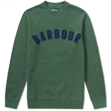 Barbour Prep Logo Crew Mens Sweatshirt Racing Green