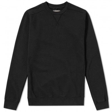 Nemen Garment Dyed Crew Sweat Ink Black