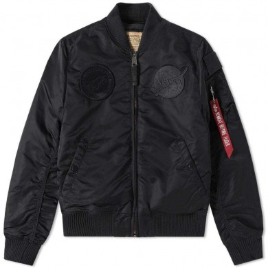 Alpha Industries Flightjacket MA-1 VF Nasa All Black