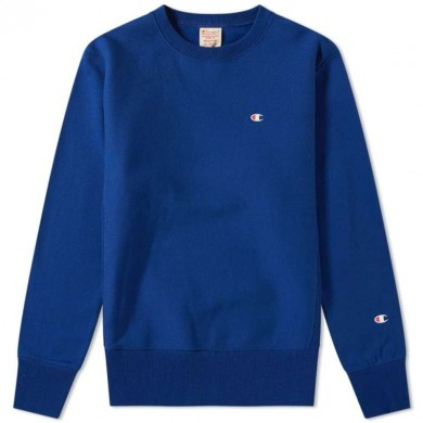 Champion Reverse Weave Classic Crew Sweat Royal Blue